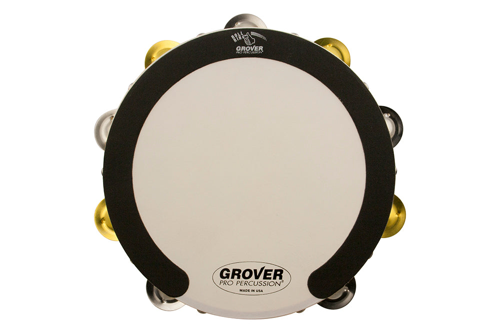 Grover SV-TAMB-SB SV 10-Inch Double Row Tambourine - Silver / Brass