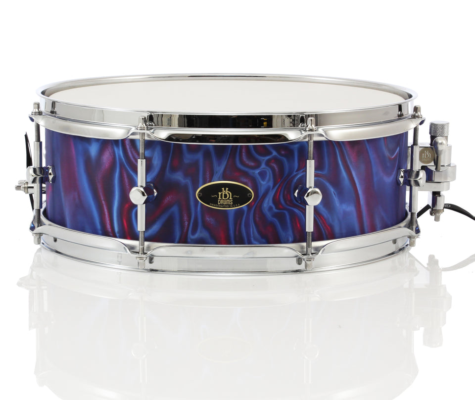"RBH 14"" x 5"" Monarch Snare Drum - Peacock Satin Flame"