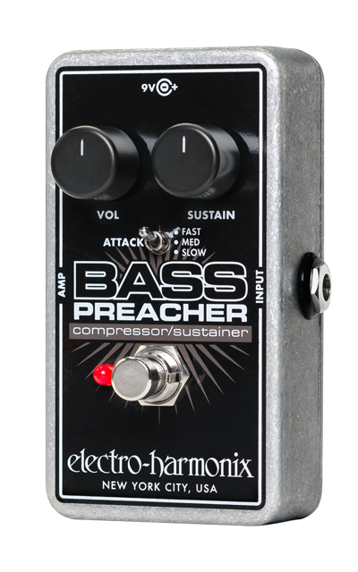 Electro Harmonix Bass Preacher Compressor/Sustainer Pedal For Bass Guitar