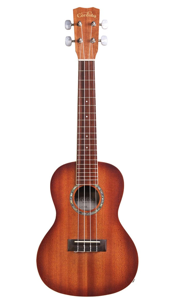 Cordoba 15CM-E Concert Acoustic Electric Ukulele - Edge Burst Finish