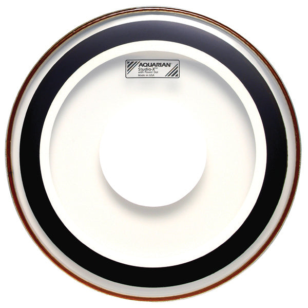 "Aquarian 12"" Studio-X Drum Head With Power Dot"