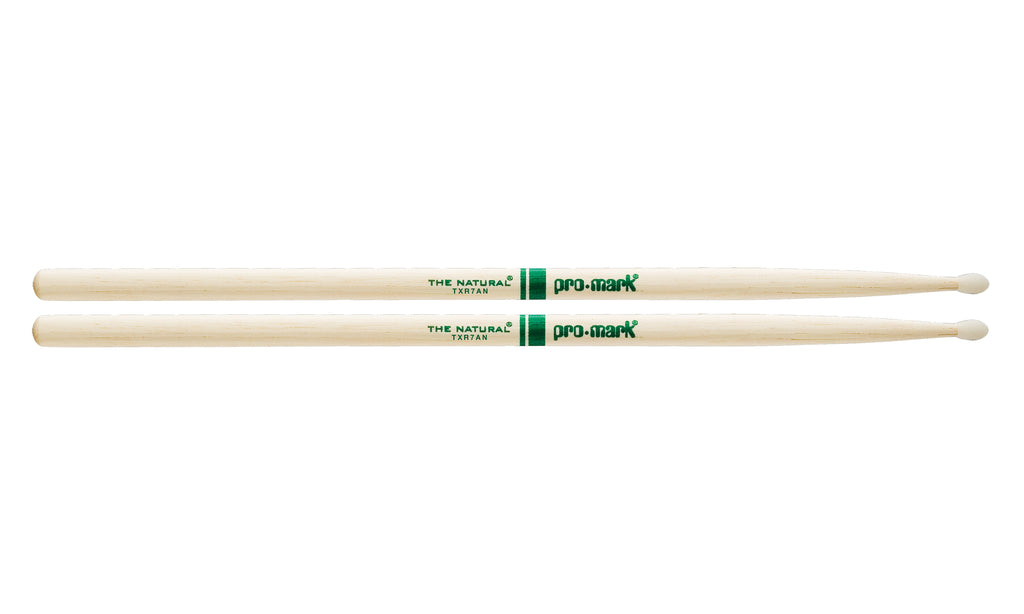 Promark TXR7AN Hickory 7A The Natural Nylon Tip drumstick
