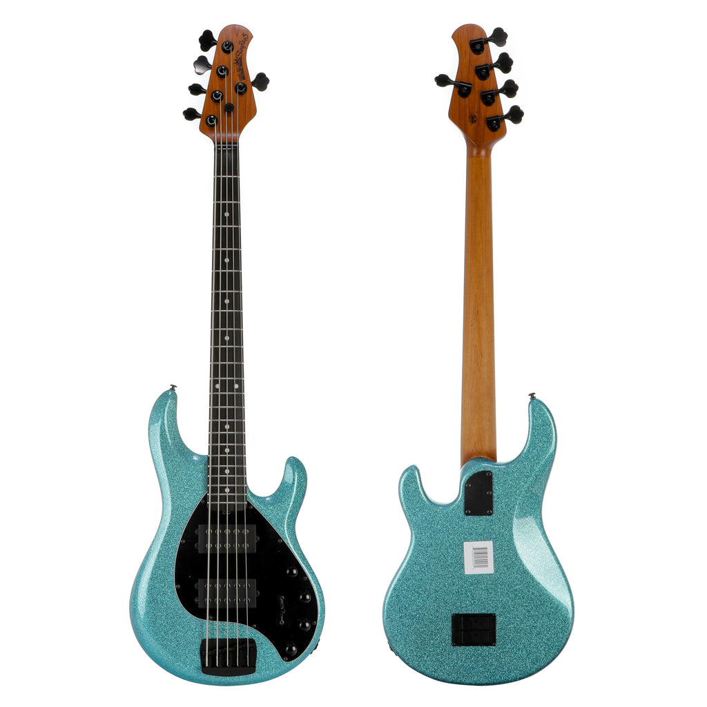 Music Man StingRay 5 HH Special, Ebony Fretboard - Aqua Sparkle