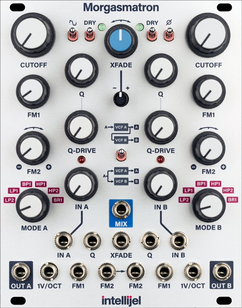 Intellijel Morgasmatron Dual Multimode Self-Oscillating VCF and Crossfader Module