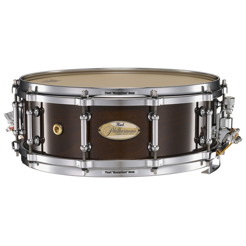 "Pearl PHP1440101 14"" x 4"" Philharmonic 6-ply Maple Snare Drum - Walnut Lacquer"