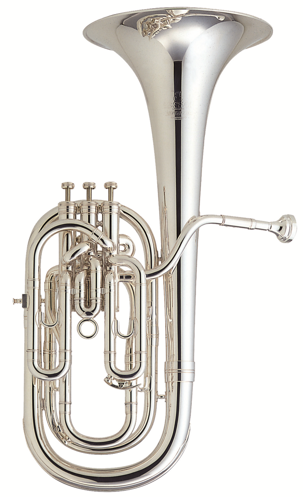 Besson BE955-2-0 B-Flat Baritone Horn - Silver Plated Soverign Series