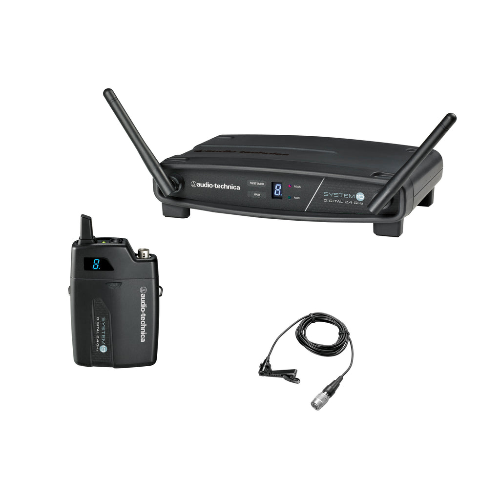 Audio-Technica ATW-1101/L Digital Lavalier Wireless System With MT830cW Omnidirectional Microphone - 2.4 GHz