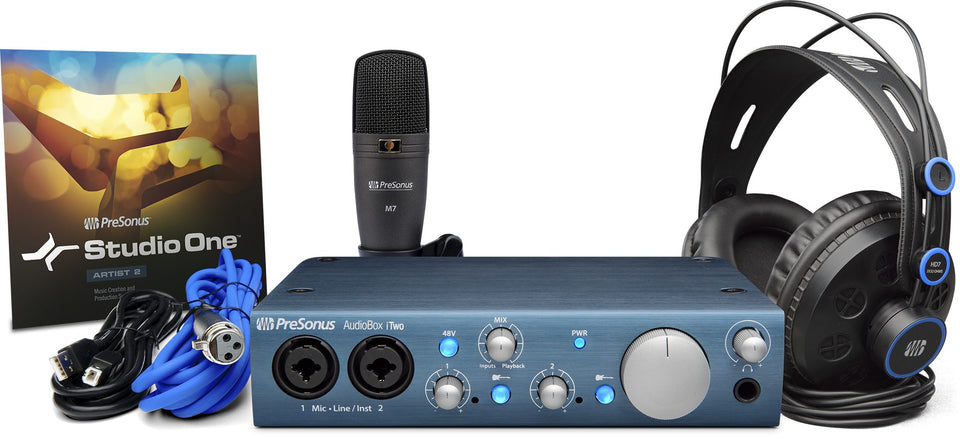 PreSonus AudioBox iTwo Studio Mobile Hardware/Software Recording Bundle
