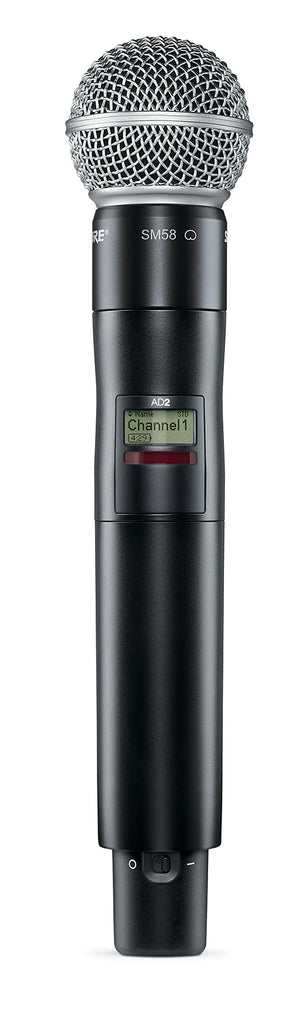 Shure AD2/SM58 Axient Digital Handheld Transmitter W/ SM58 Cartridge