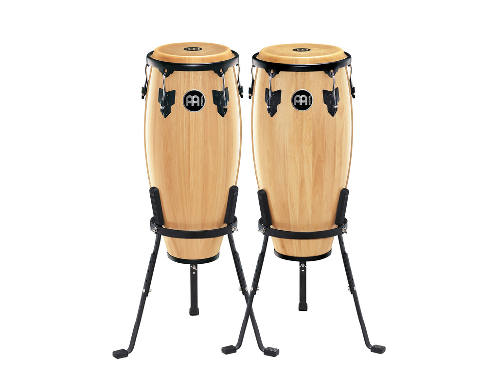 "Meinl HC555NT Headliner Wood Congas 10"" And 11"" Set With Stands - Natural"