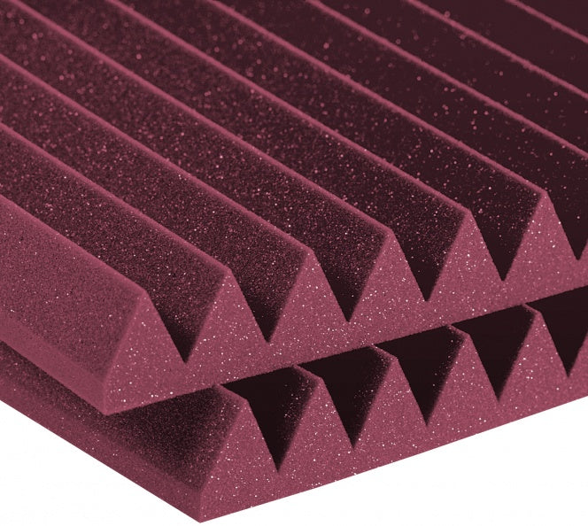 "AURALEX ACOUSTICS 2SF24BUR Studiofoam Wedges - Burgundy (Set Of 12) - 2"" x 24"" x 48"""