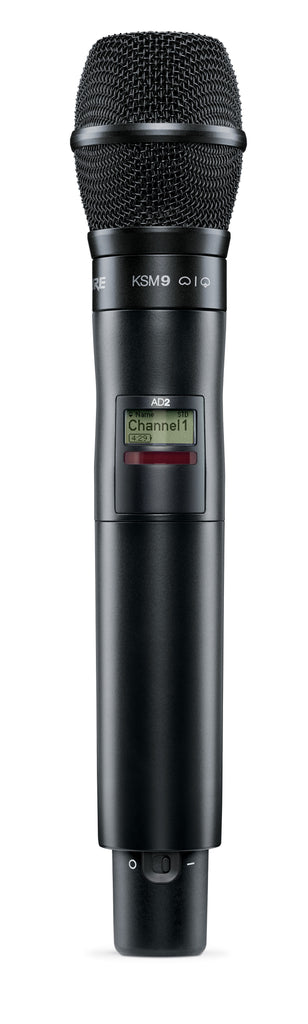 Shure AD2/K9B Axient Digital Handheld Transmitter W/ KSM9 Cartridge - Black