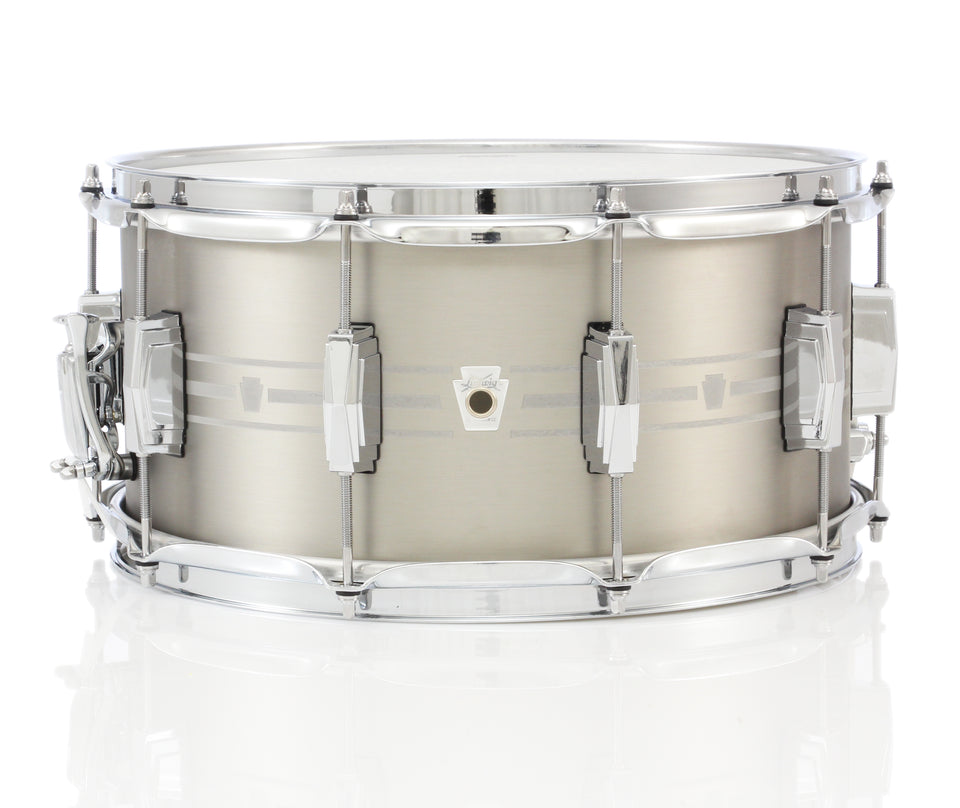 "Ludwig 14"" x 7"" Heirloom Stainless Steel Snare Drum"