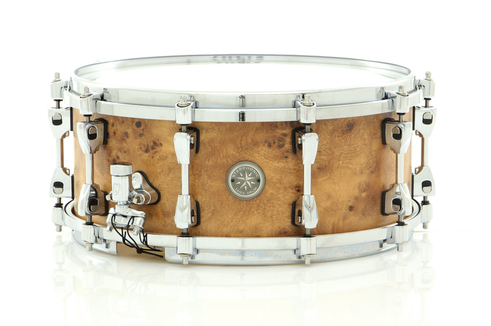"Tama 14"" x 6"" Starphonic Maple Snare Drum Satin Mappa Burl"