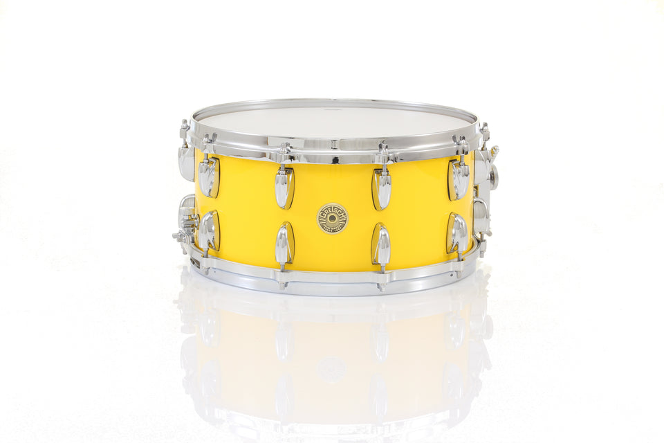 "Gretsch 14"" x 6.5"" USA CUSTOM Snare Drum - Solid Yellow Gloss, Micro Sensitive"
