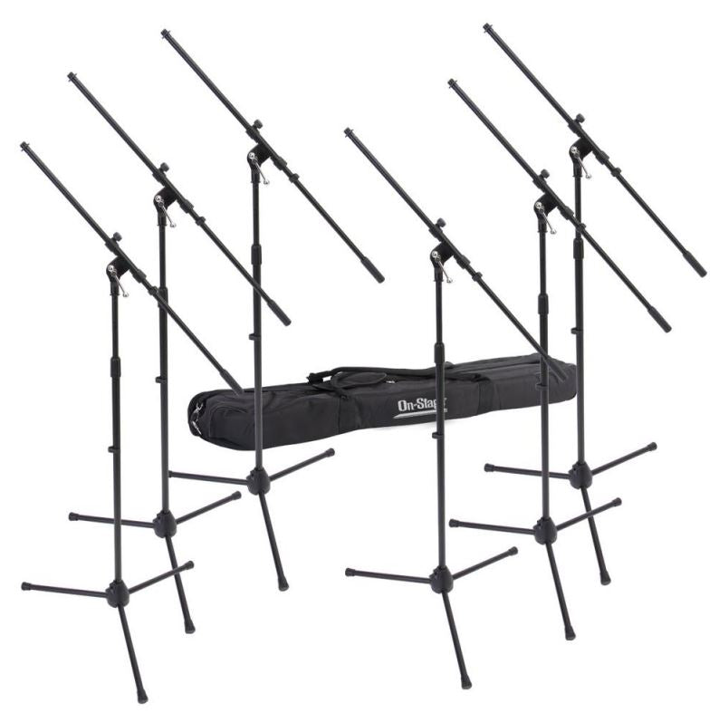 On-Stage Stands MSP7706 Euroboom Mic Stand 6-Pack W/ Bag