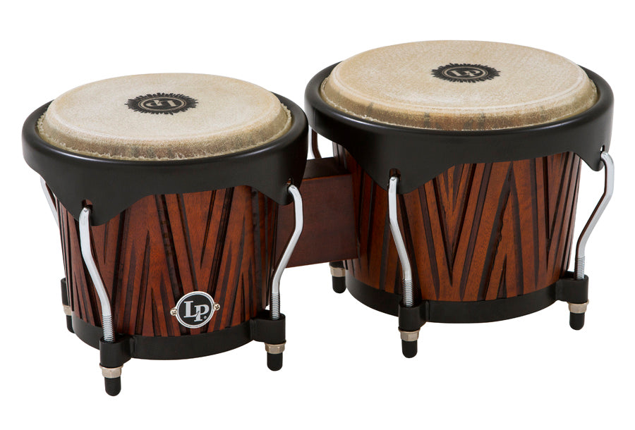 LP LP601NY-CMW City Series Bongos, Carved Mango Wood