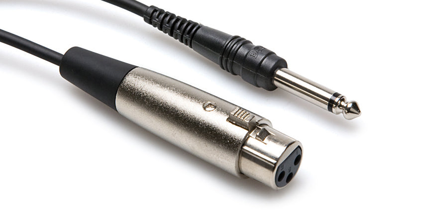 "HOSA PXF-110 XLR3F To 1/4"" TS 10 Foot Cable"