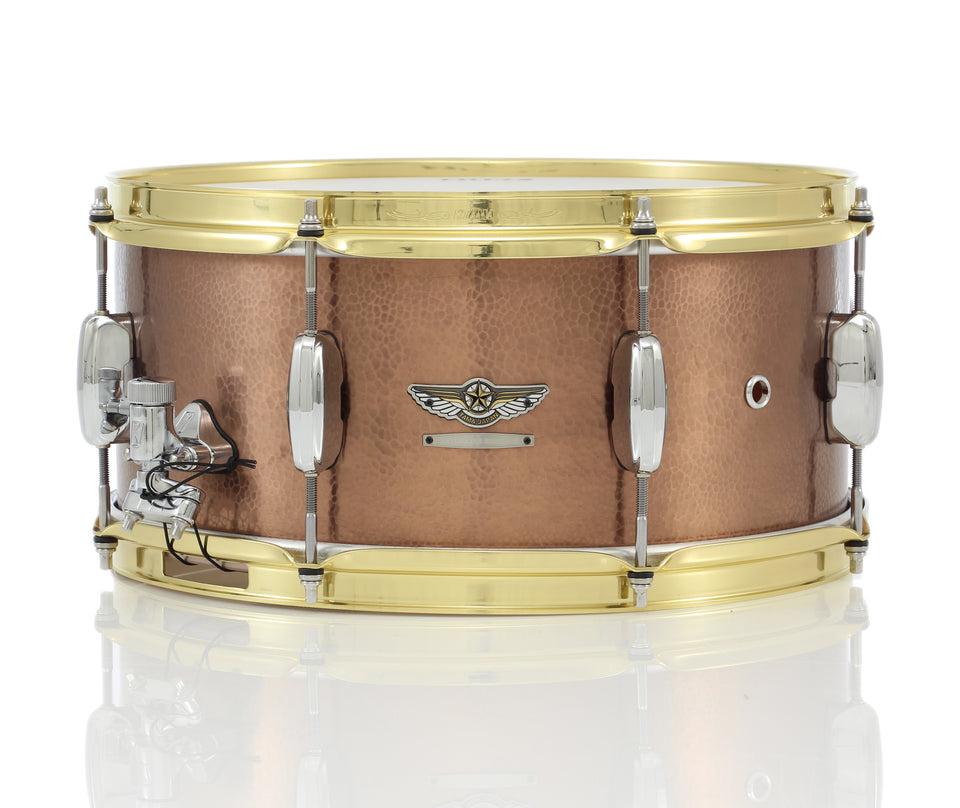 "Tama 14"" x 6.5"" STAR Reserve Hand Hammered Copper Snare Drum"