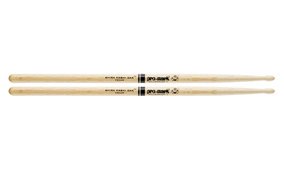 Promark PW5AW Shira Kashi Oak 5A Wood Tip Drumsticks