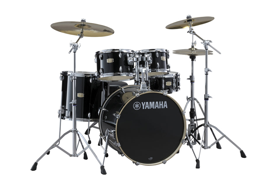 "Yamaha Stage Custom Birch 20"" Kick Drum Set w/ Hardware - Raven Black"