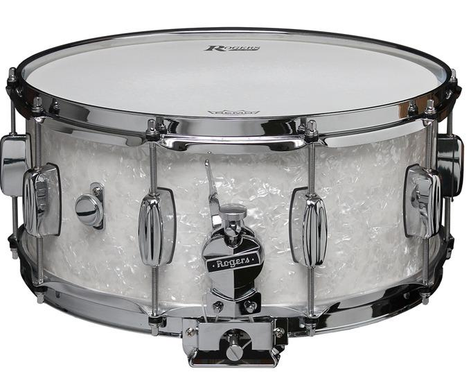 "Rogers 14"" x 6.5"" Dyna-Sonic Classic Snare Drum - White Marine Pearl"