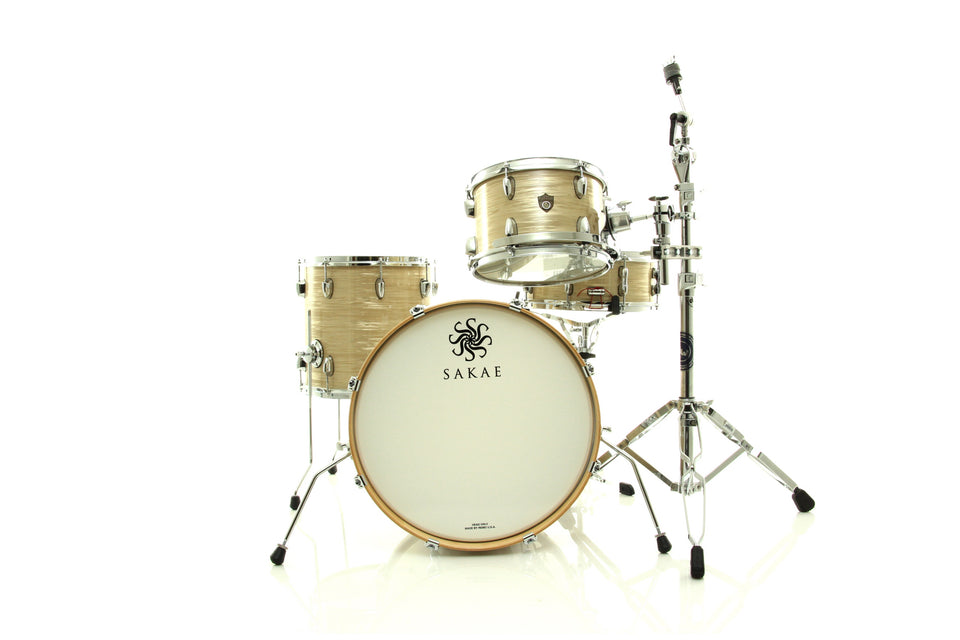 Sakae Rhythm Trilogy 4 Piece Drum Set Shell Pack - Vintage Cream Oyster