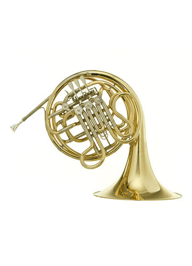 Hans Hoyer 6801G F/Bᵇ Double French Horn - 3B Linkage, Gold Brass