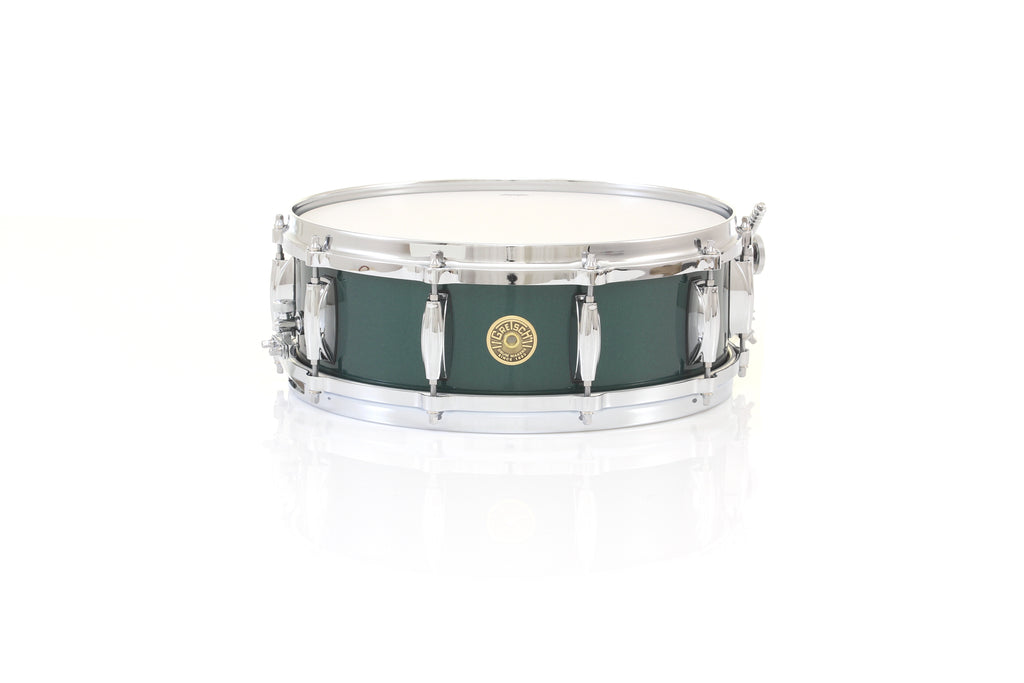 "Gretsch 14"" x 5"" USA CUSTOM Snare Drum - Cadillac Green Gloss, Micro Sensitive"