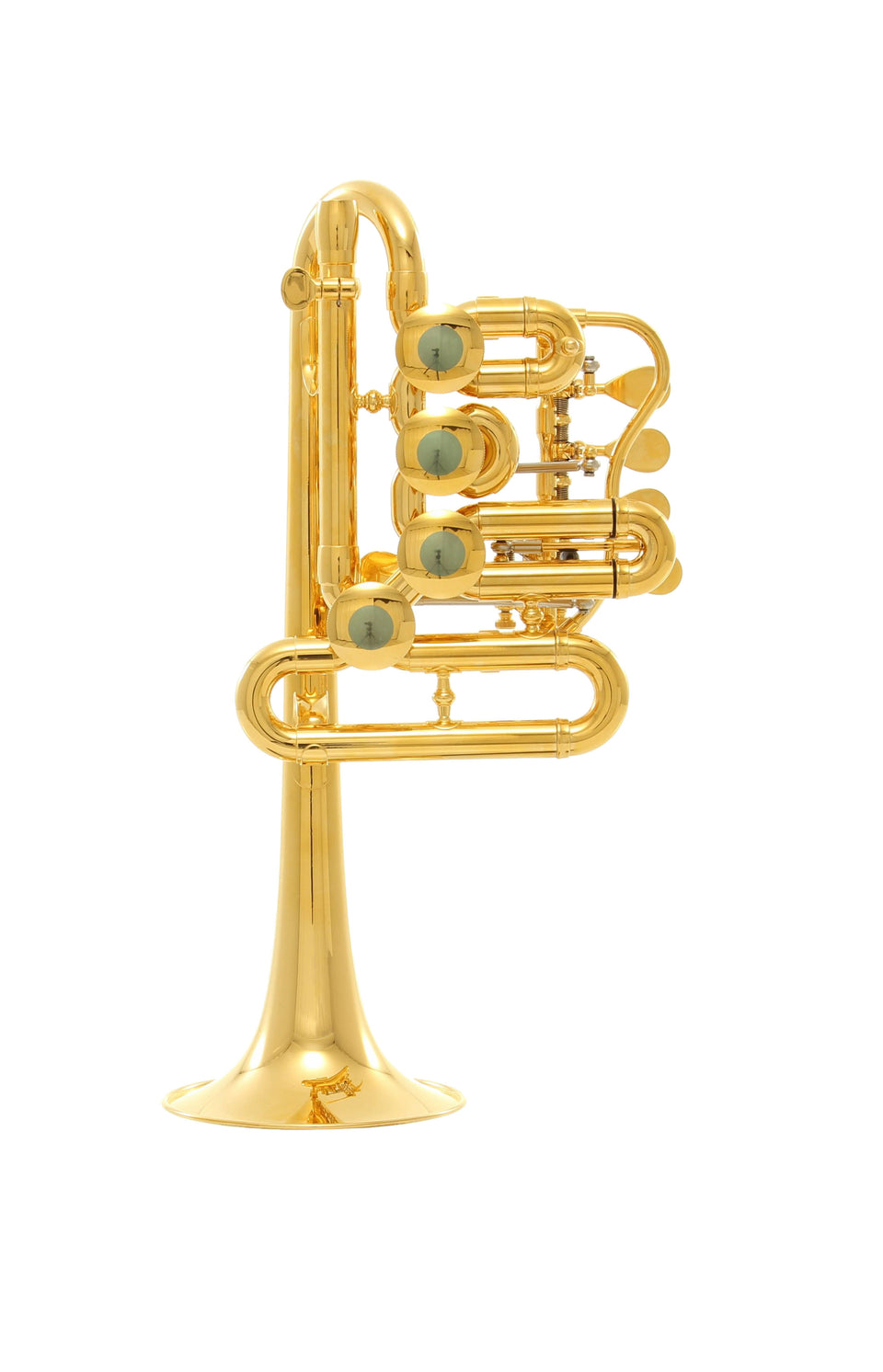 Schagerl Berlin B-Flat/A Piccolo Trumpet - Gold Plated