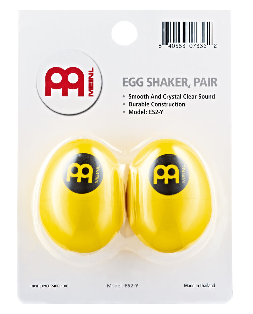 Meinl ES2-Y Egg Shaker Pair, Yellow