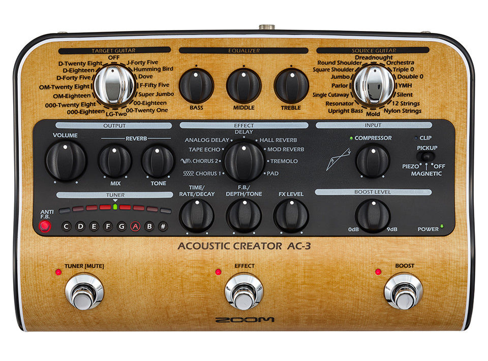 Zoom AC-3 Acoustic Creator Enhanced Direct Box