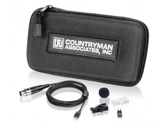 Countryman EMW Omnidirectional Lavalier Microphone For Shure Wireless Systems (TA4F) Black