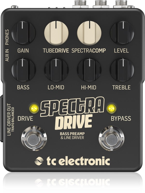 TC Electronic SPECTRADRIVE Bass Preamp And Drive Pedal