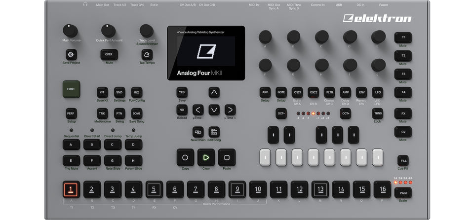 Elektron Analog Four MKII Analog Synthesizer W/ Sequencer