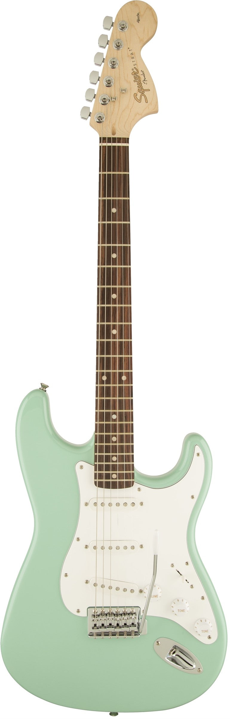 Squier Affinity Series Stratocaster Electric Guitar - Rosewood Fingerboard, Surf Green