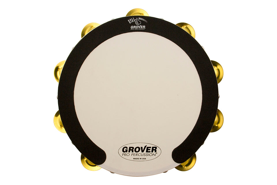 Grover SV-TAMB-BR SV 10-Inch Double Row Tambourine - Brass