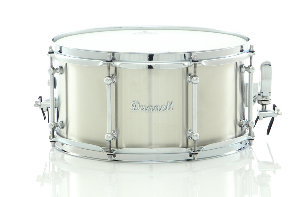 "Dunnett Classic Drums 14"" x 7"" Classic Stainless Steel Snare Drum Kitchen Sink Finish"