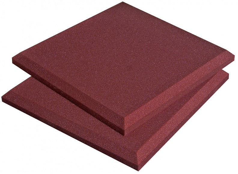 "AURALEX ACOUSTICS SFLATBUR SonoFlat Sound Absorption Panel - Burgundy (Set Of 16) - 2"" x 24"" x 24"""