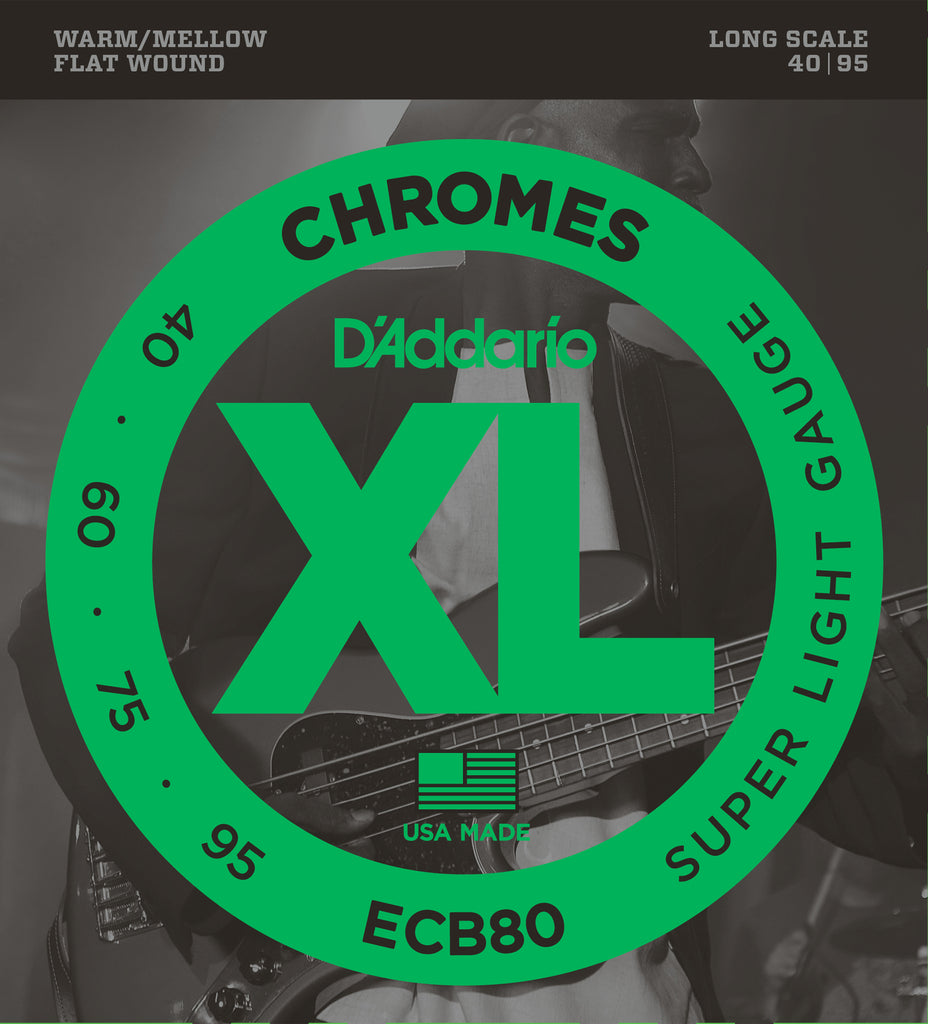 D'addario ECB80 Bass Guitar Strings, Light, 40-95, Long Scale