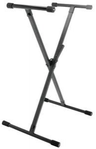 On-Stage Stands KS8390 Lok-Tight Single-X Keyboard Stand w/ QuikSQUEEZE Trigger