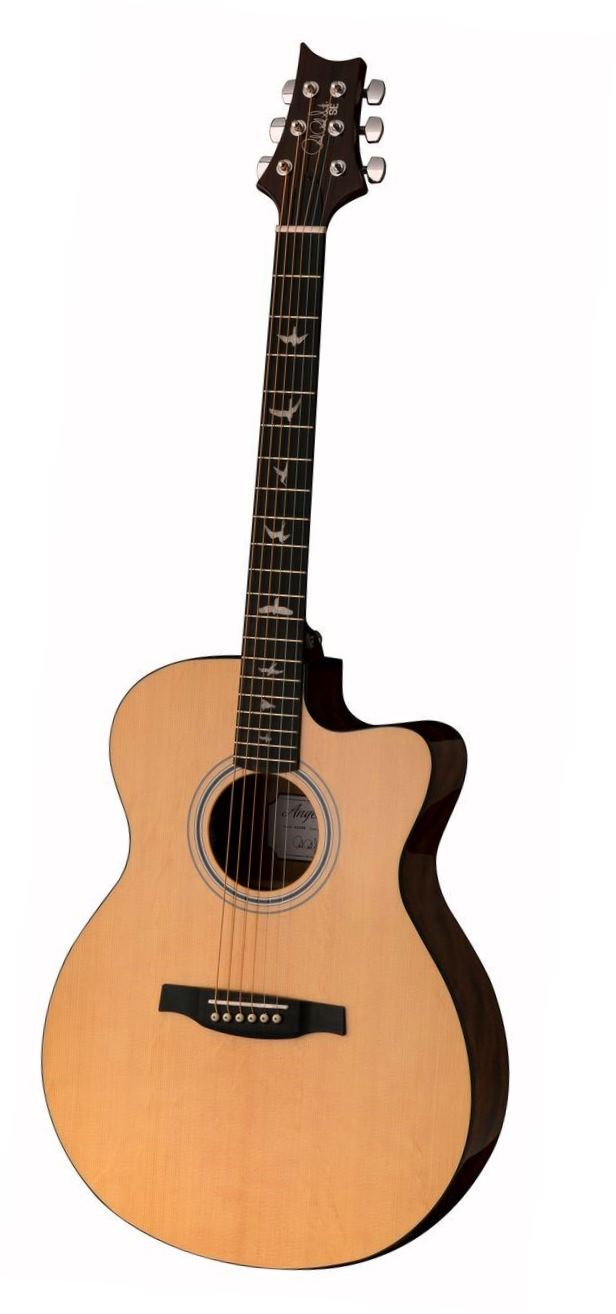 PRS SE AX20ENA Cutaway Acoustic Electric Guitar - Natural
