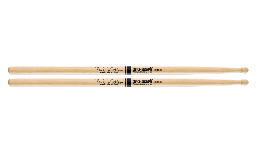 Promark TX808W Hickory 808 Wood Tip Paul Wertico drumstick