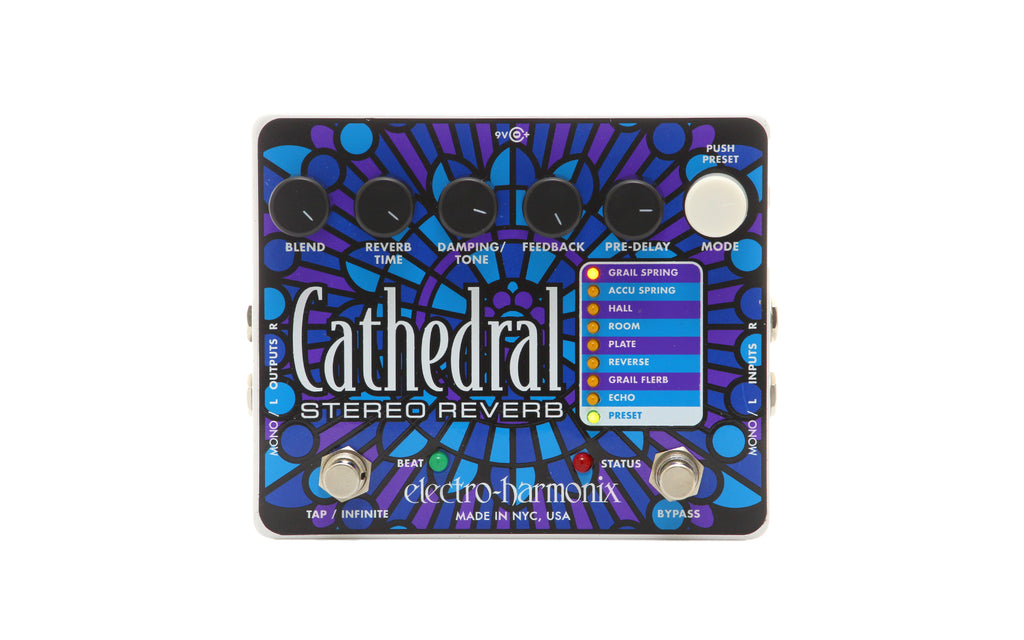 Electro Harmonix Cathedral Stereo Reverb Pedal