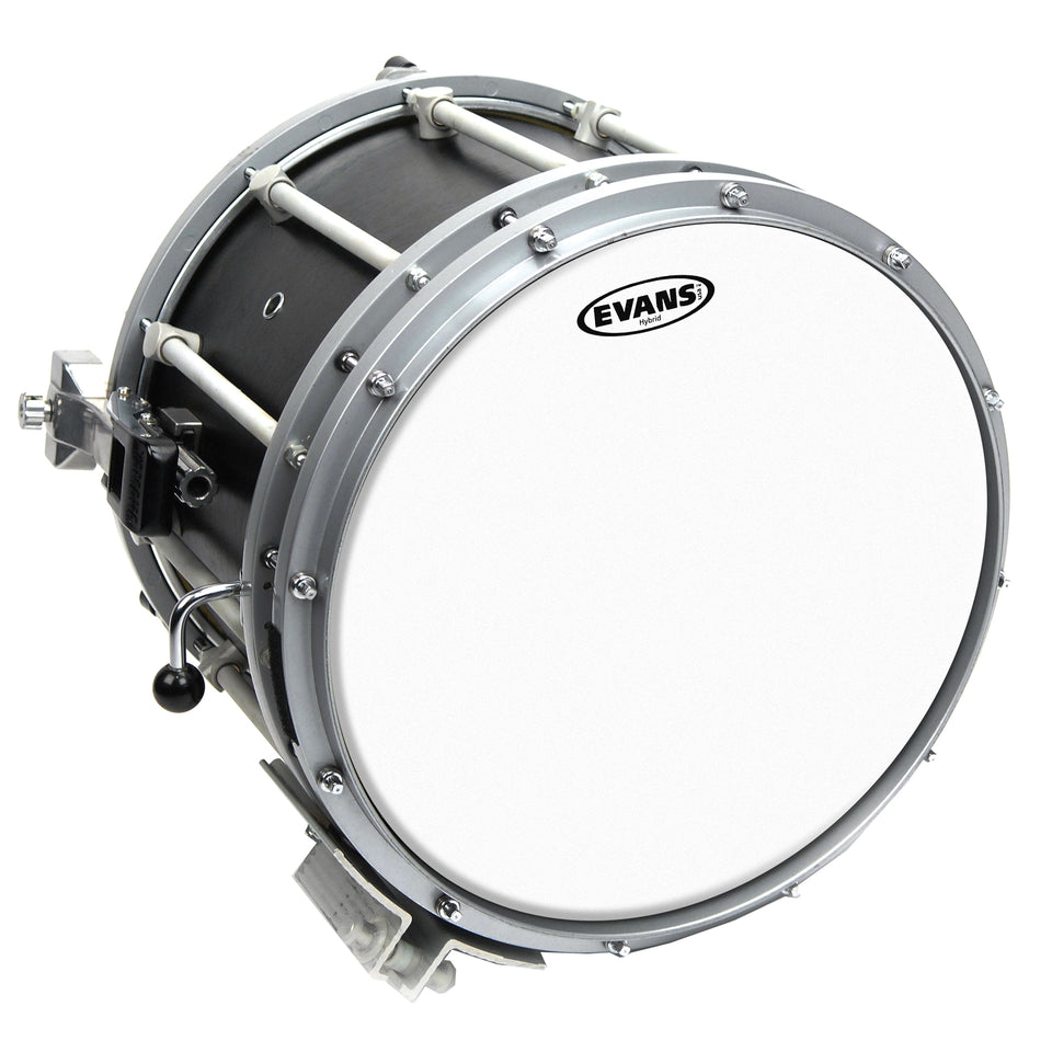 Evans Hybrid White Marching Snare Drum Head