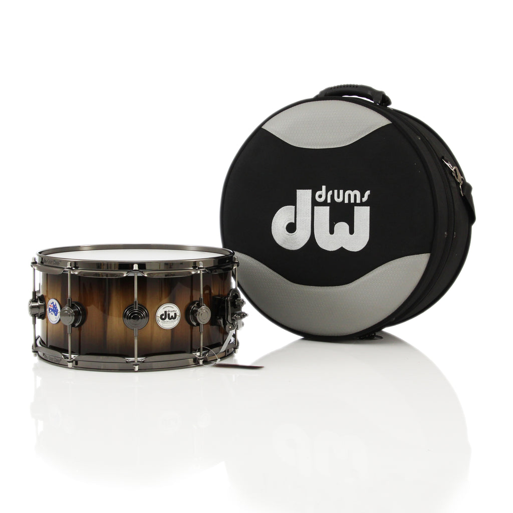 "Drum Workshop 14"" x 6.5"" Collectors Limited Edition Tasmanian Blackheart Sassafras Snare Drum"