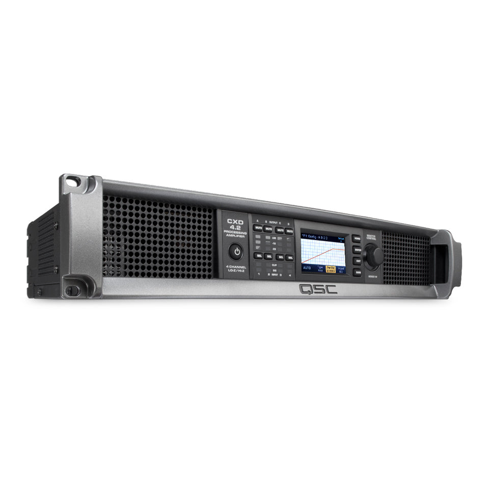 QSC CXD4.2 CXD Series 1.6KW 4CH Processing Amplifier