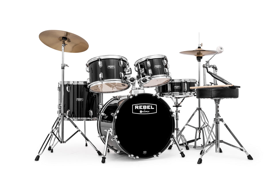 "Mapex Rebel 5-Piece Junior Complete Drum Set, 18"" Kick"