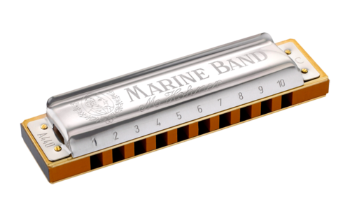 Hohner 1896BX-F# Marine Band Harmonica - Key of F#