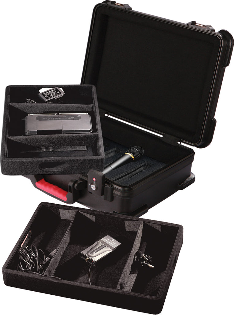 Gator GM-7W-TSA ATA Molded Case With TSA Latches For 7 Wireless Microphones